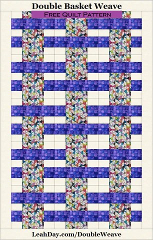 Basket Weave Quilt Pattern : basket, weave, quilt, pattern, Double, Basket, Weave, Quilt, Pattern, JOANN, Fabrics, LeahDay.com