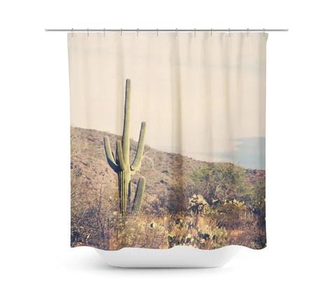 desert landscape 4 shower curtain