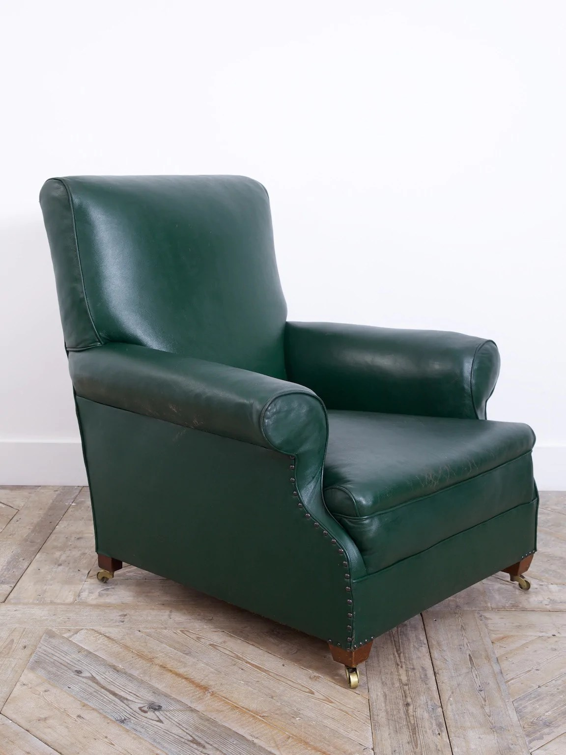 caps for chair legs round swivel sale green leather club – drew pritchard ltd