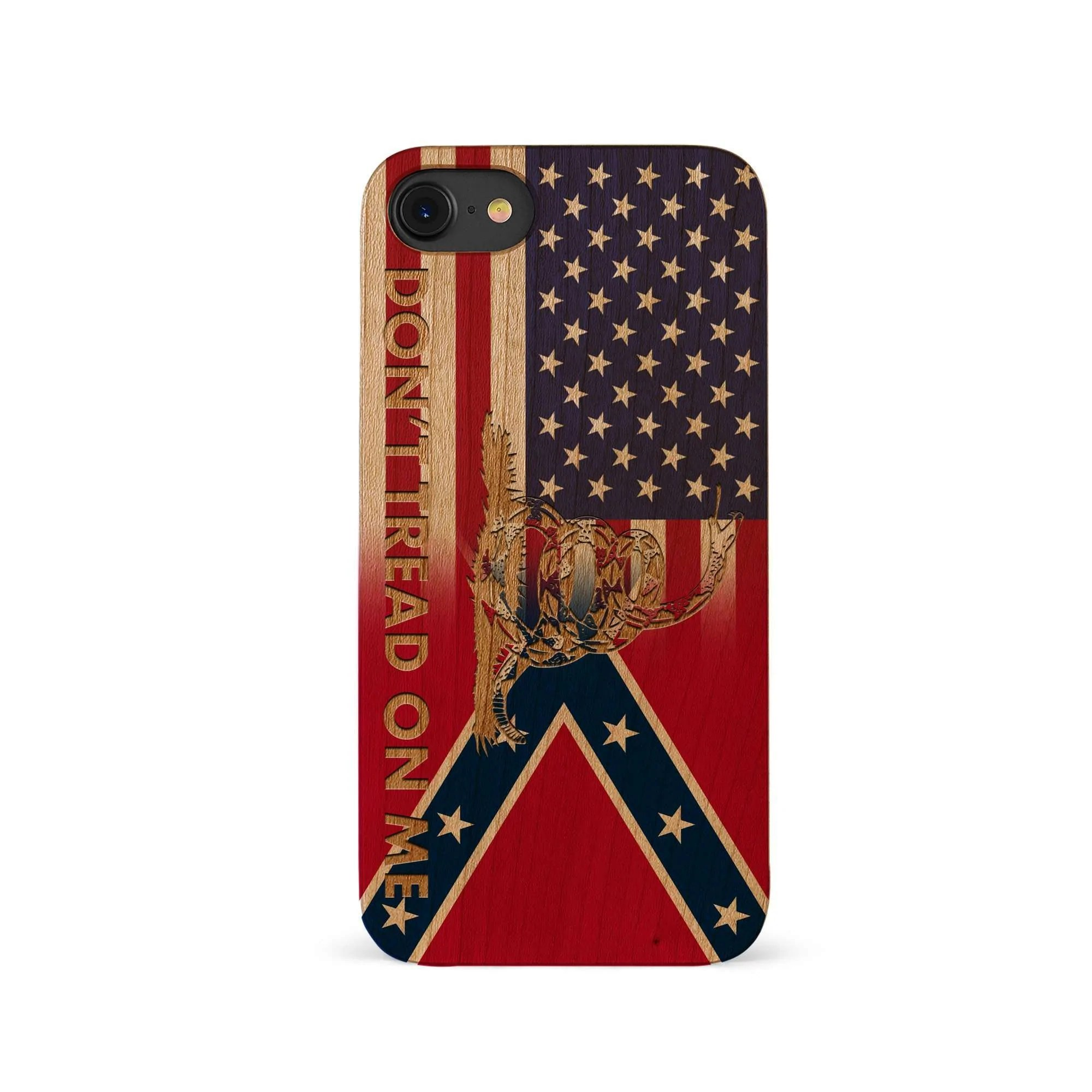 297e725b7f5 Wooden Confederate Transition Flag With Gadsden Snake Iphone
