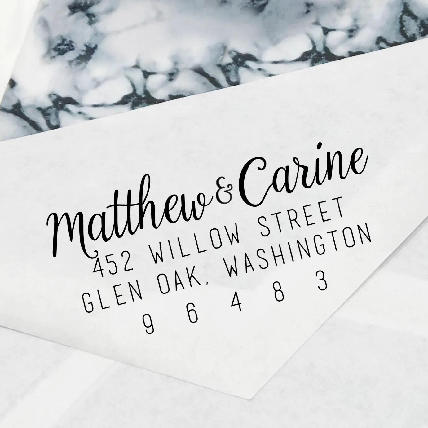 cursive couples names return
