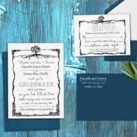 "Wedding Invitation Stamp Set ""Kate & Barry Sweetheart"