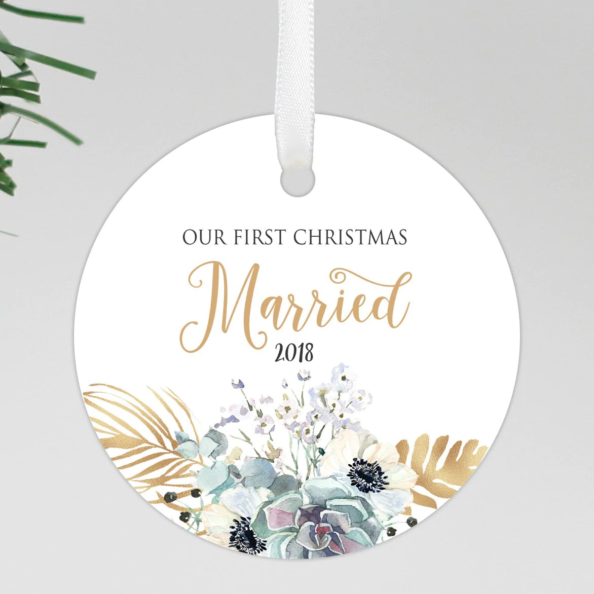 First Christmas Ornament Married