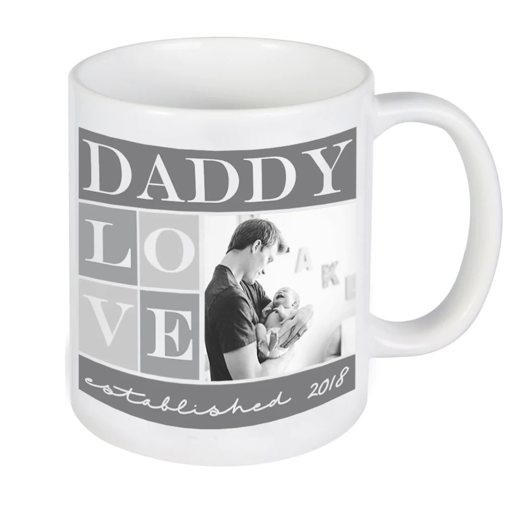 custom daddy photo mug