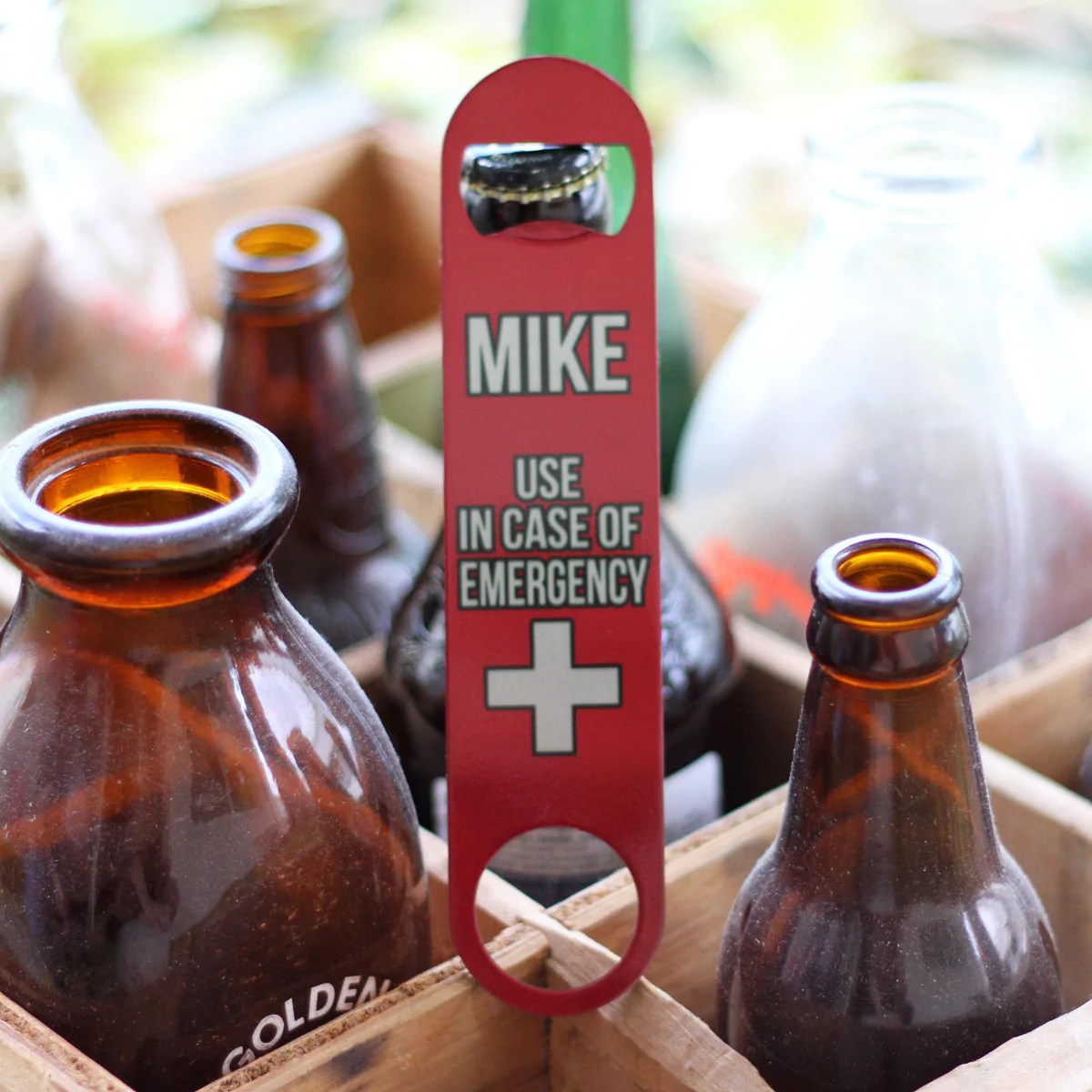 personalized bottle opener mike