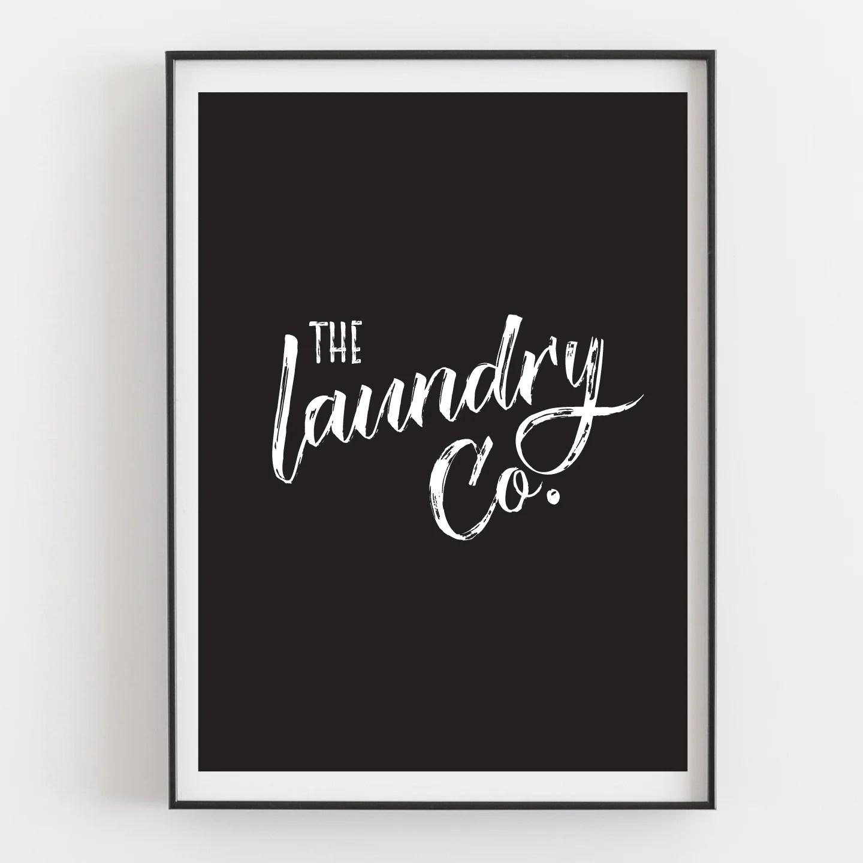 laundry art prints set
