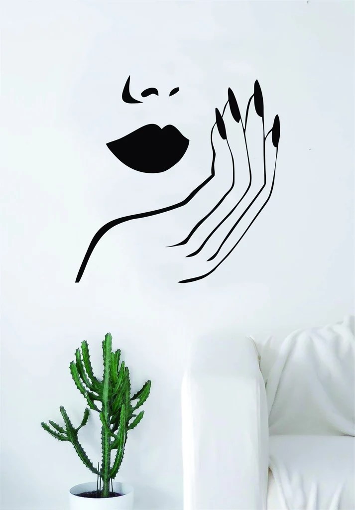 lips and nails wall decal sticker