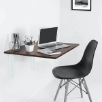 Kawachigroup Com Kawachi Invisible Foldable Wall Mounted Study Desk Foldable Computer Laptop Office Kitchen Table Sp5 Brown