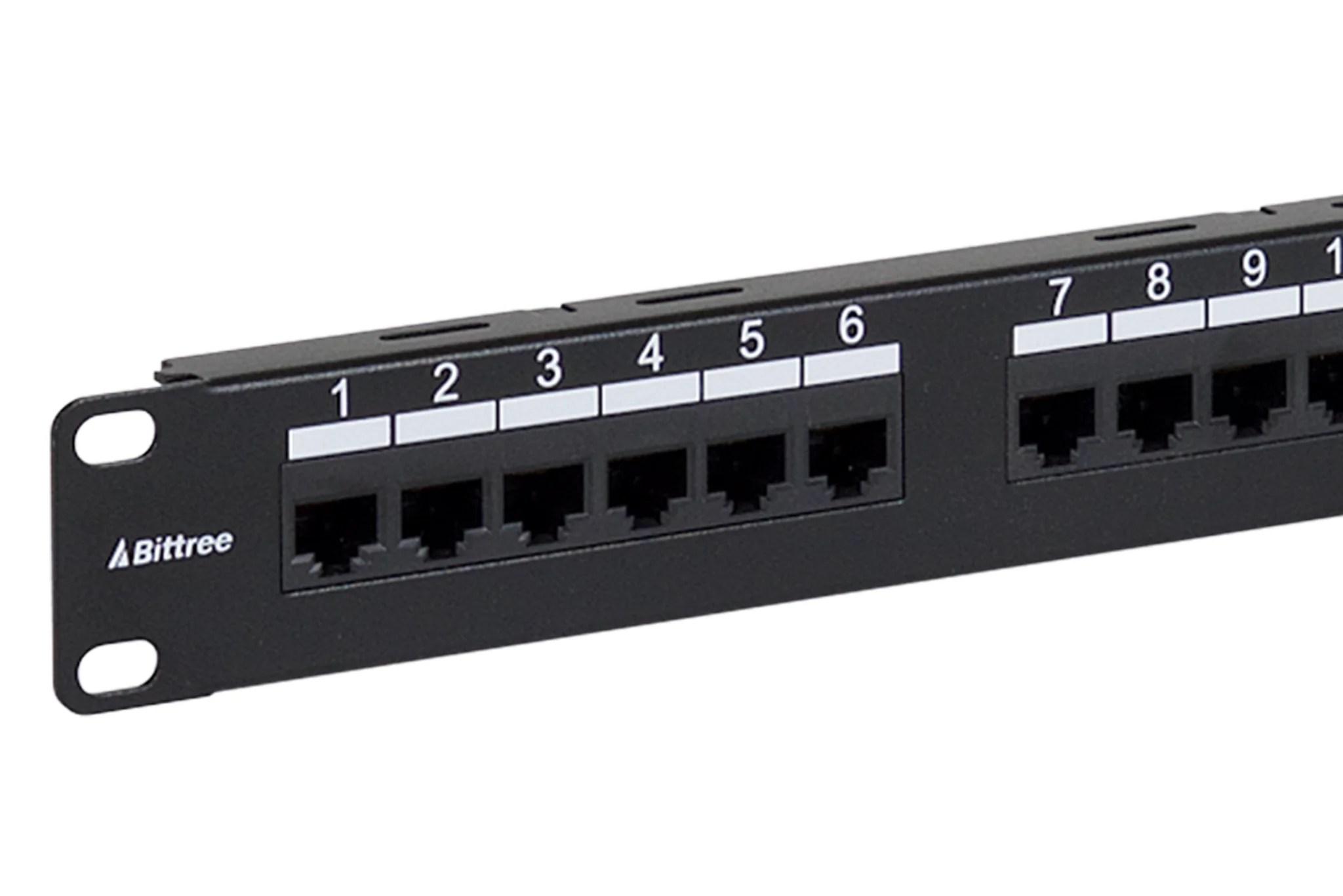 flush mount gigabit ethernet panel cat 6 110 punchdown unshielded 1x24  [ 2048 x 1367 Pixel ]