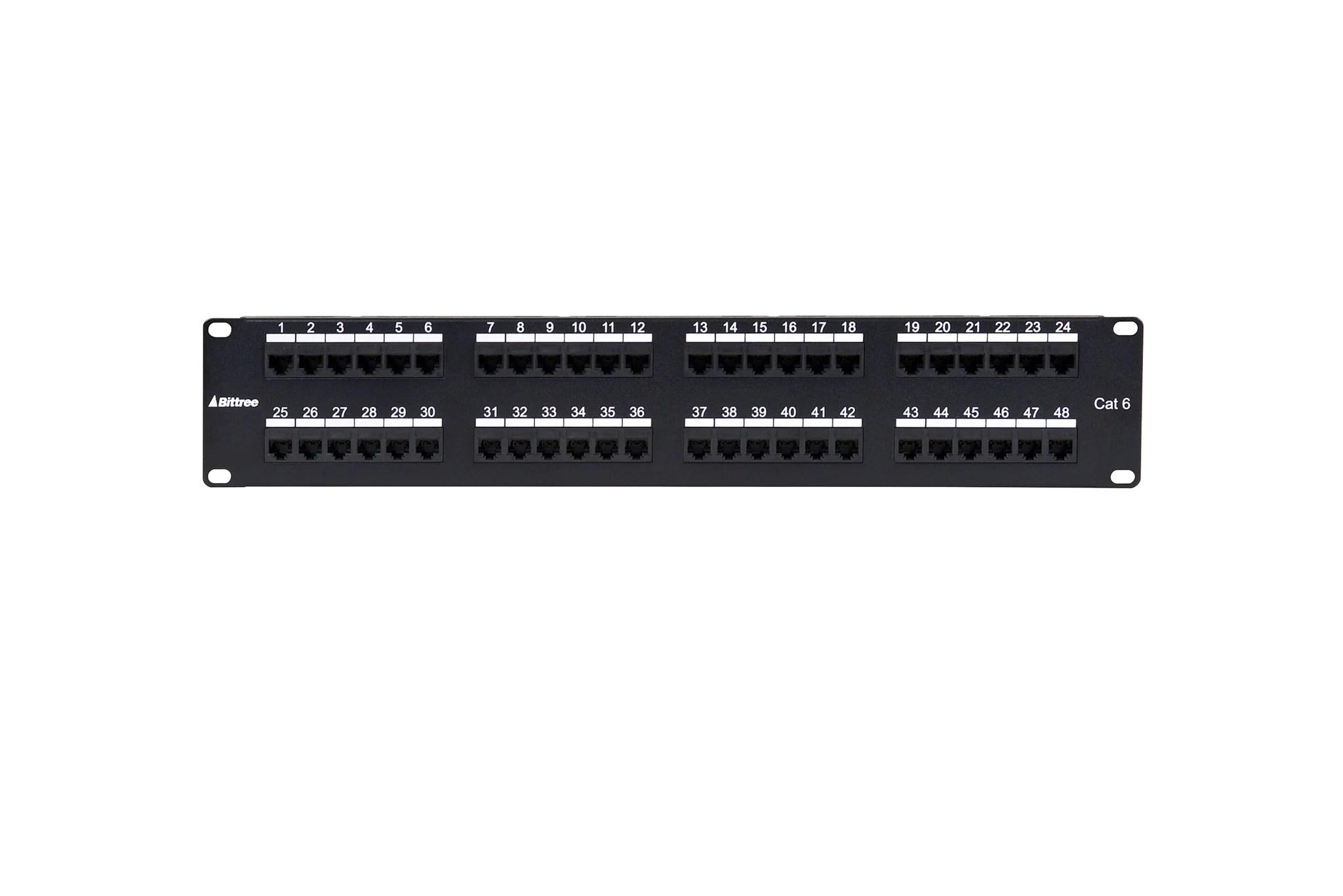 flush mount gigabit ethernet panel cat 6 110 punchdown unshielded 2x24  [ 2048 x 1367 Pixel ]