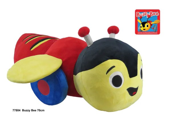Large 70cm Buzzy Bee Plush Toy Buzzy Bee Friends