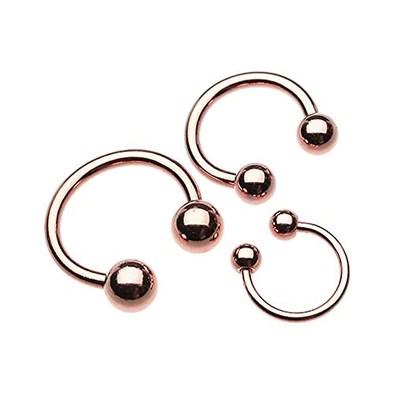 rose gold septum horseshoe