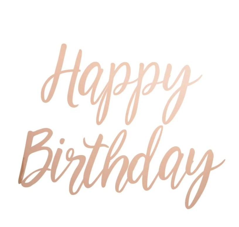 happy birthday party banner