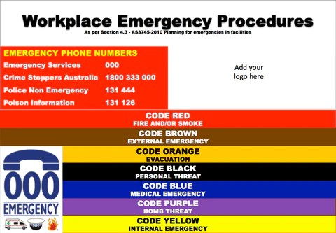 Emergency procedures flip chart instructions also  occupational safety solutions rh