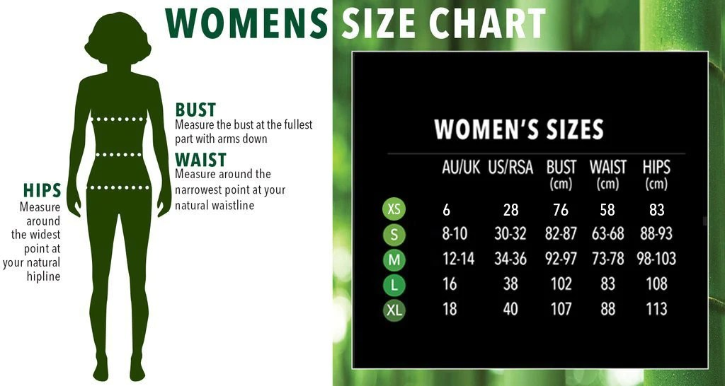 Boody women   size guide also chart south africa rh boodywear