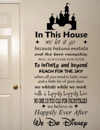 We Do Disney Vinyl Wall Art Quote Decal Sticker Sign  All ...
