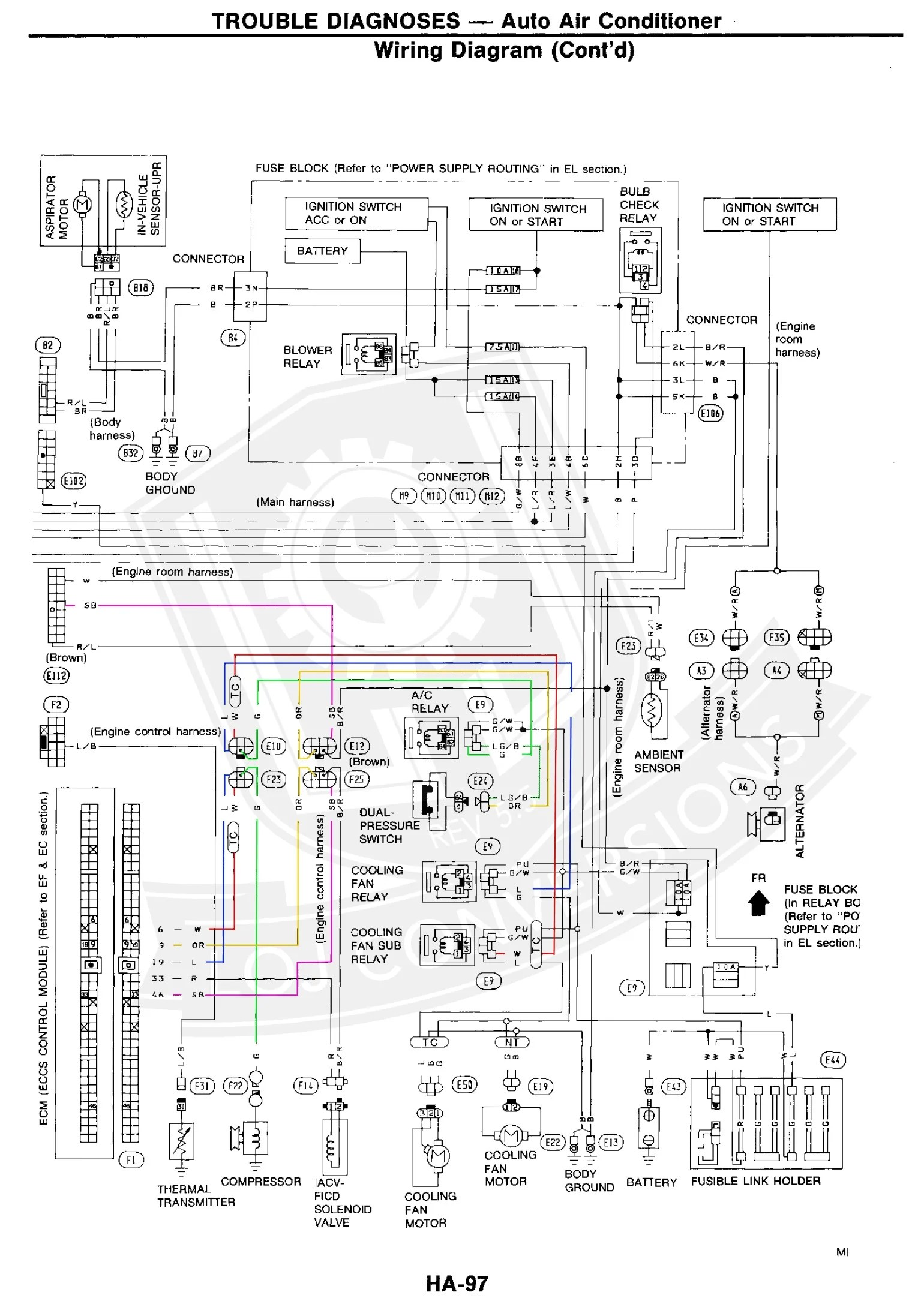 1986 nissan 300zx turbo engine wiring harness 1983 porsche 1991 Nissan  300ZX Wiring -Diagram 1991 Nissan 300ZX Wiring -Diagram