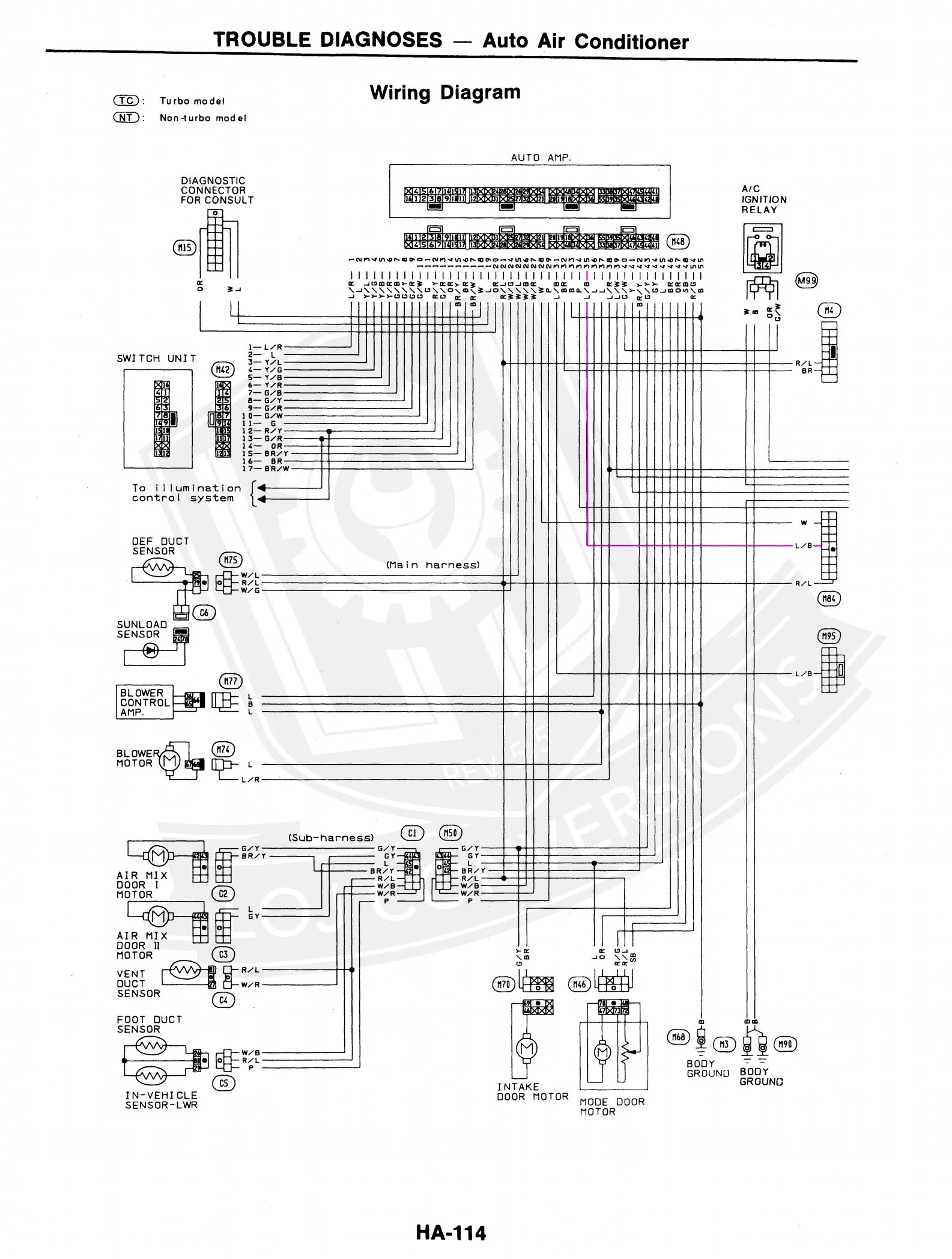 hight resolution of wiring the ac in a 300zx engine conversion loj conversions 1987 nissan 300zx engine diagram 1992 300zx engine wiring diagram