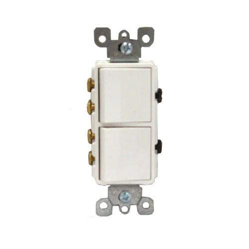 Switches 3 Stacked Single Pole Decora Rocker Switches Leviton 1755