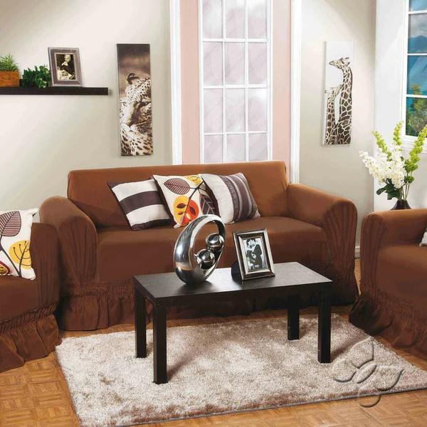 Cubre sofa de tres puestos Resist Moka  Intima USA