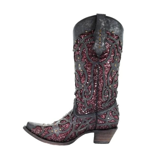 Corral Purple Inlay Boot