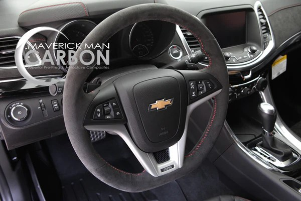 ZL1 Suede Steering Wheel With Red Stitching Maverick Man