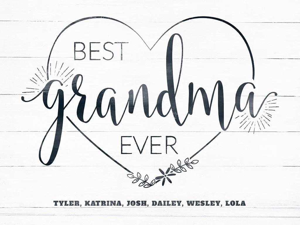 best grandma ever personalized