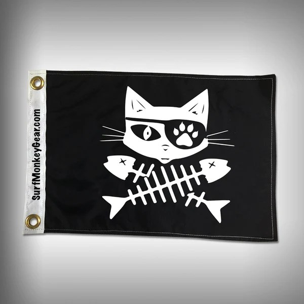 Cat Pirate Flag Marine Flag Boat Flag – SurfmonkeyGear