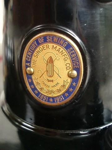Singer Featherweight 221 Badge Vintage Original The
