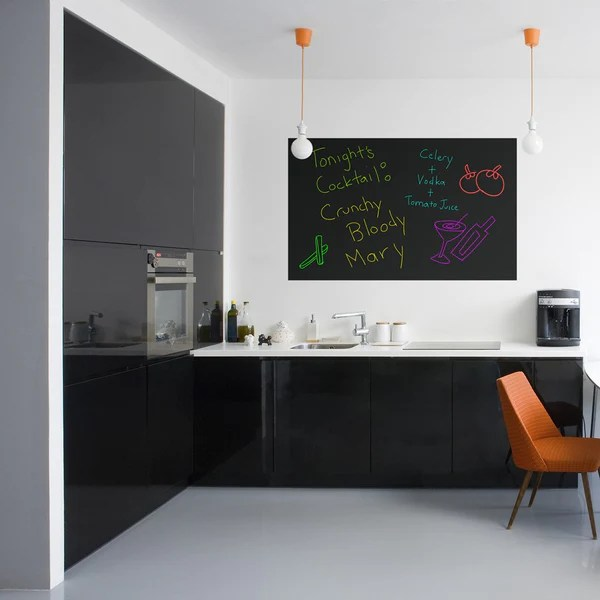 Stick On Black Dry Erase Board  Black Whiteboard Decal  Writeyboard