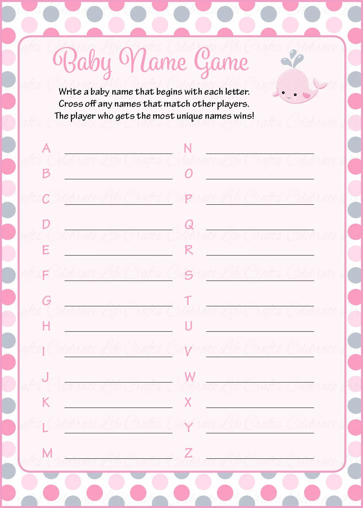 baby shower name suggestions