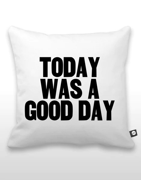 Today Was A Good Day Pillow  Blik