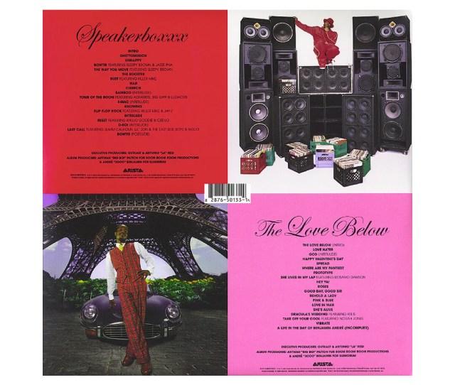 Outkast Speakerboxxx The Love Below Black Vinyl Lp