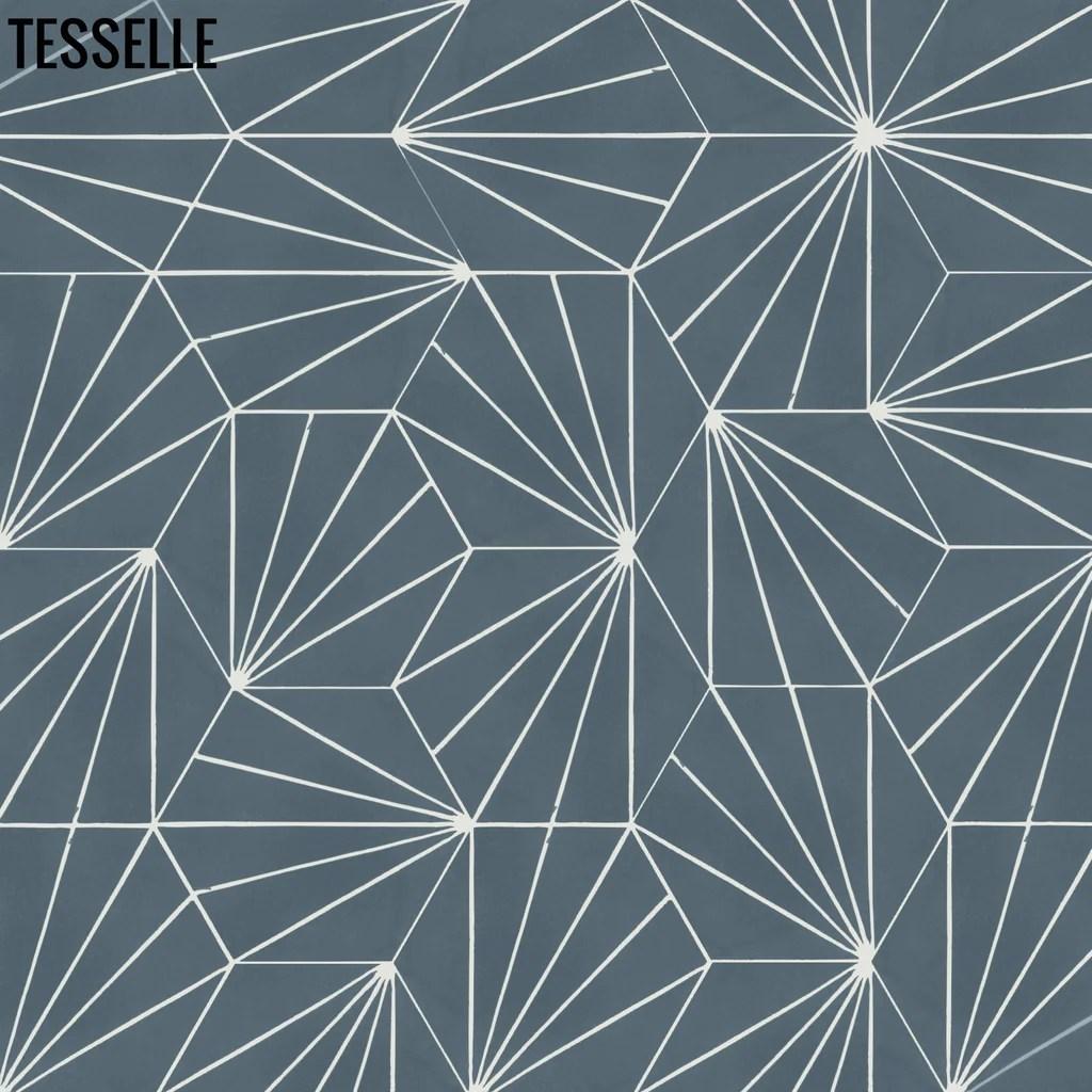 sunray denim 9x8 hexagonal cement tile