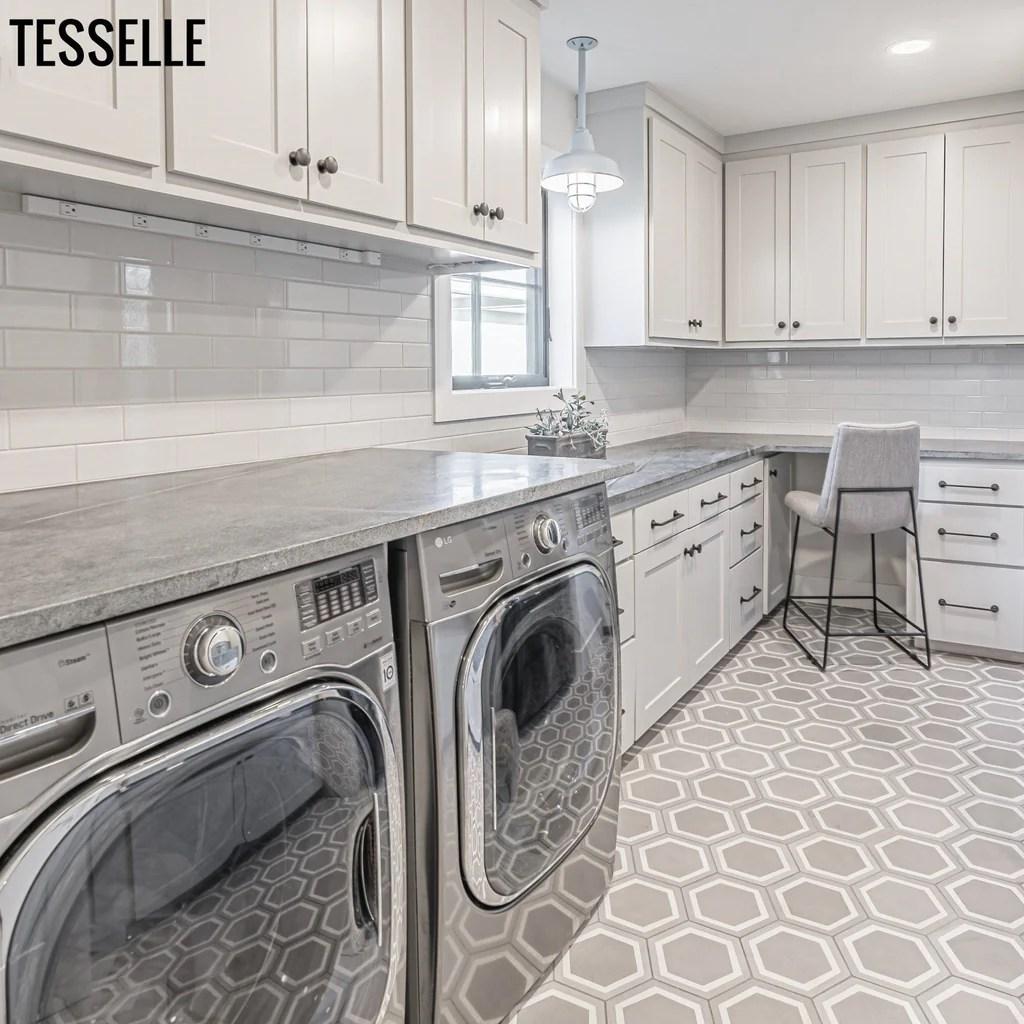 la cella misti 9x8 hexagonal cement tile tesselle