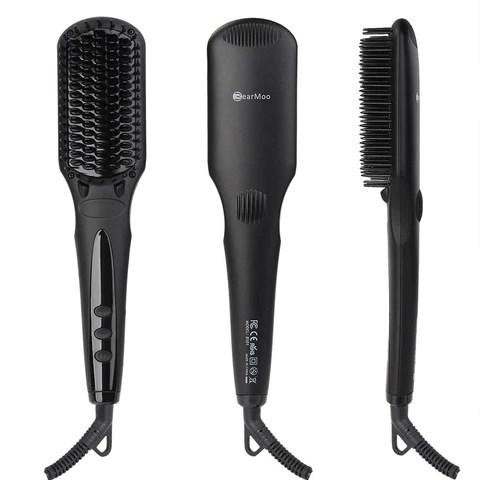 hair straightening brush bearmoo best brush hair straightener for silky frizz chickadee