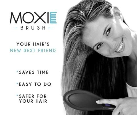 moxie brush hairbrush black electric ceramic hair straightening brush lcd chickadee