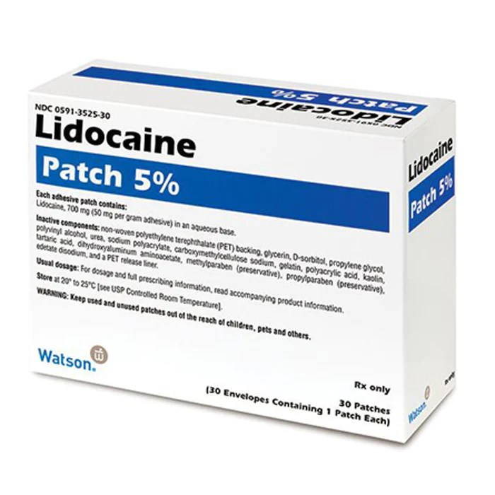 Lidocaine Patch 5% by Watson 30/Box