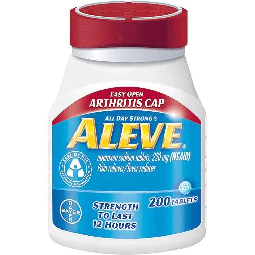 Aleve Arthritis Easy Open Cap with Soft Grip Bottle 200 ...