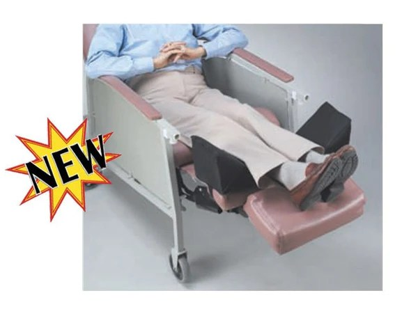 invacare clinical recliner geri chair victorian balloon back chairs recliners leg positioner