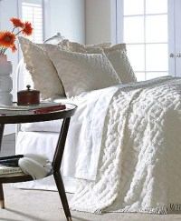 DIAMOND TUFTED CHENILLE BEDSPREAD AND PILLOW SHAM SET, ALL ...