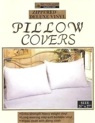 vinyl zippered pillow covers protectors set of pillow cases brown s linens and window coverings