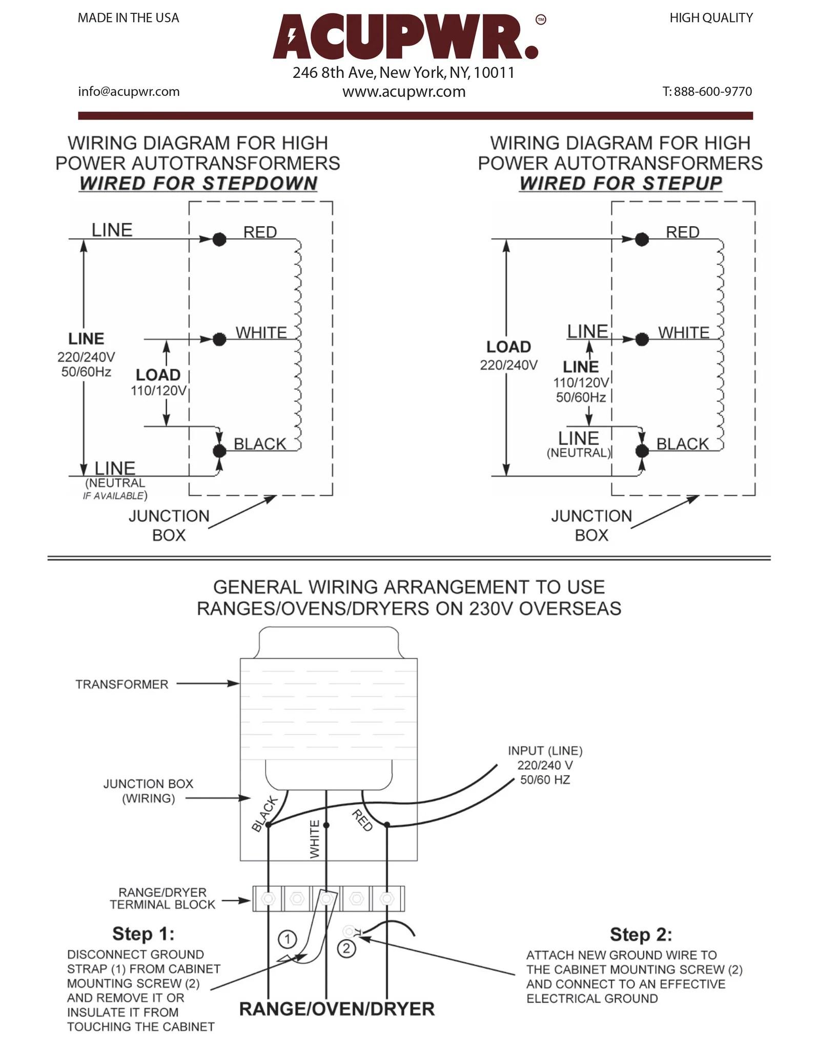 6000 TruWatts™ Step UpStep Down  HardWire Voltage