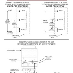 110 Volt Transformer Wiring Diagram Meyers Snow Plow 6000 Tru Watts Step Up Down Hard Wire Voltage With Knock Acupwr Watt