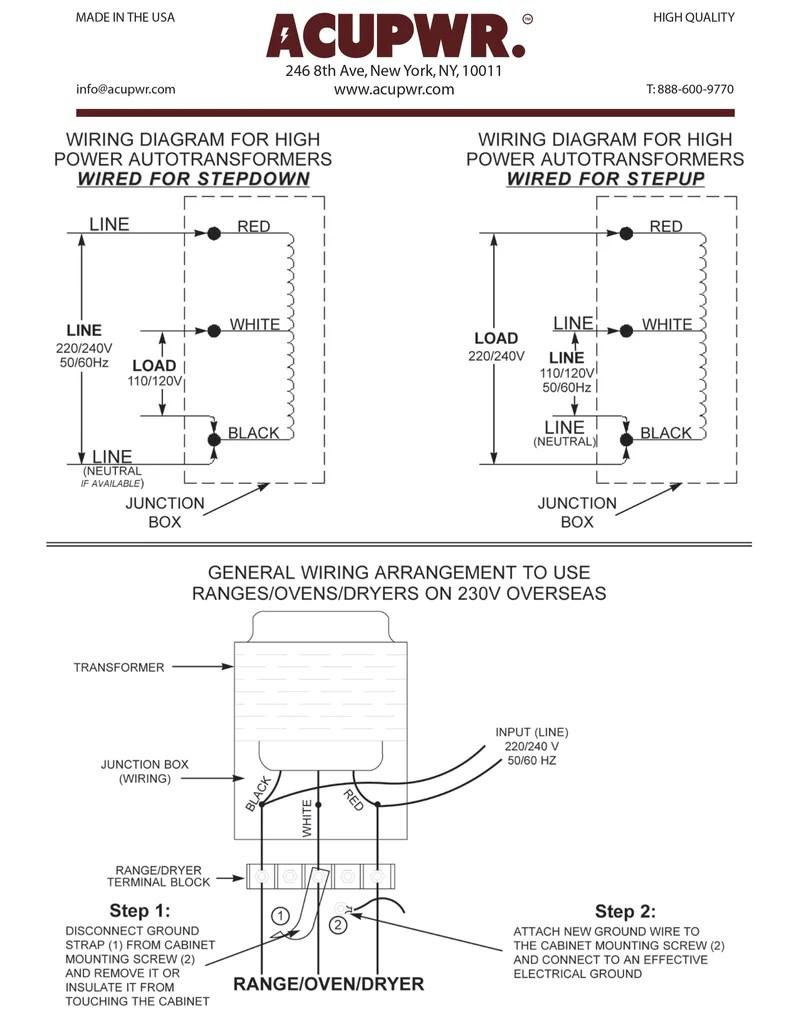 4000 tru watts step up step down hard wire voltage with knock outacupwr tru watts [ 799 x 1024 Pixel ]
