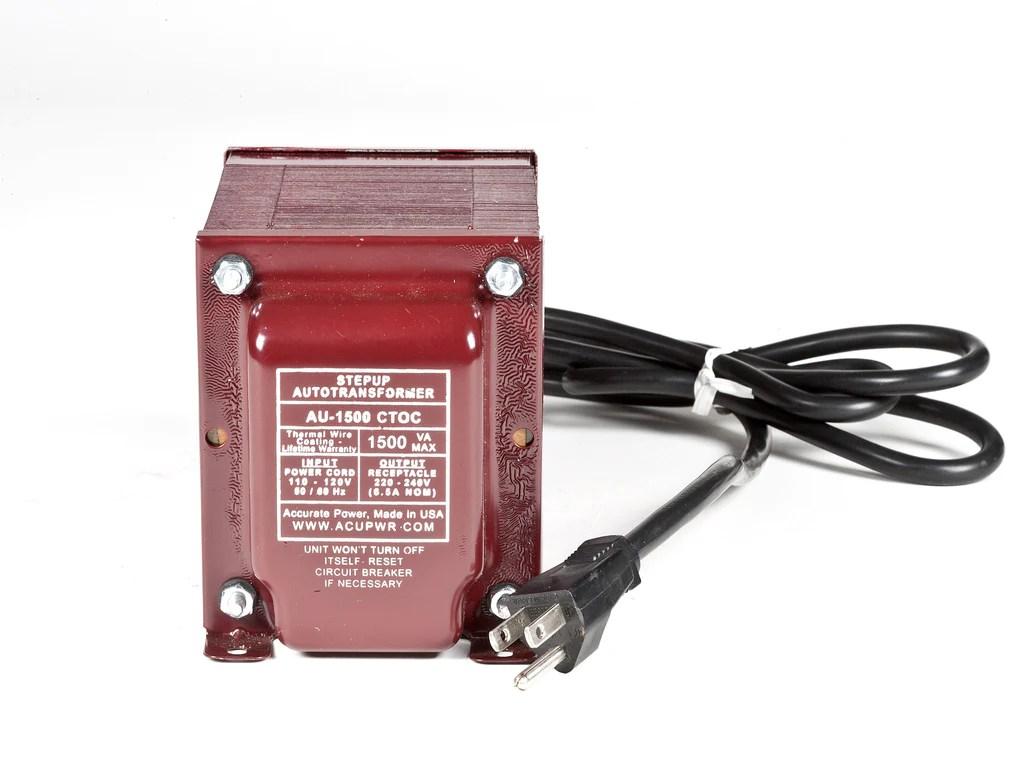 medium resolution of 1500 tru watts step up transformer converter use 220 volts appliances in 110