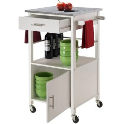 Granite Top Kitchen Cart Planning Guide Winsome Davenport Portable With 3