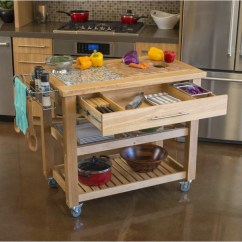 Kitchen Island On Wheels With Seating Remodels Before And After Chris & Pro Chef Food Prep Station W ...