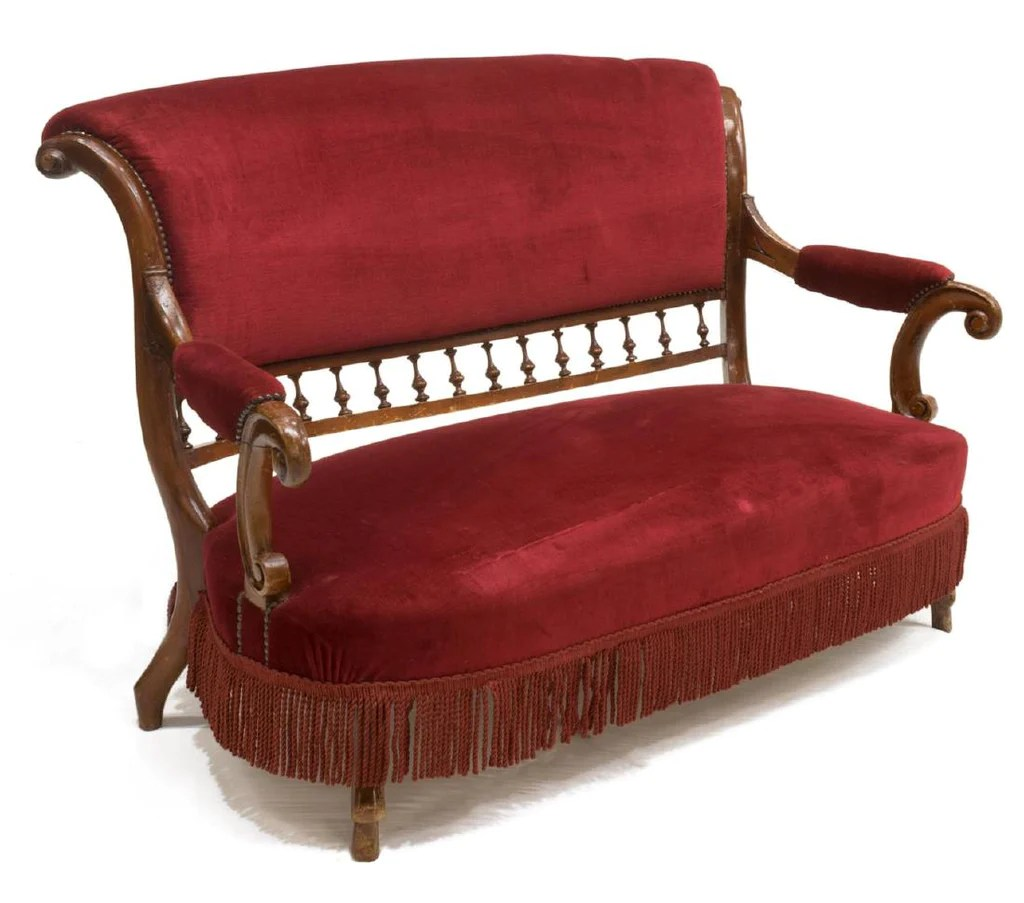 Antique Parlor Chairs Stunning Antique Italian Upholstered Mahogany Parlor Sofa And Arm