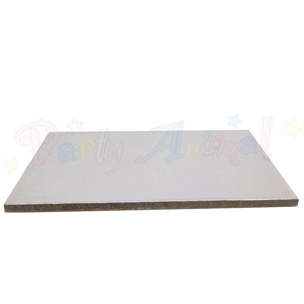 oblong drum cake boards 16x12 silver foil [ 1024 x 1024 Pixel ]